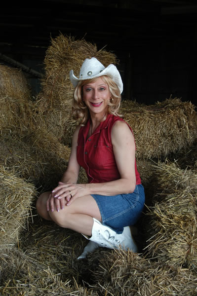 Sharon in the hay
