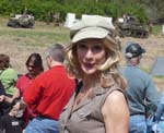 Sharon DeWitt at WWII reenactment